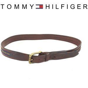 Tommy Hilfiger leather flag vintage belt size 34